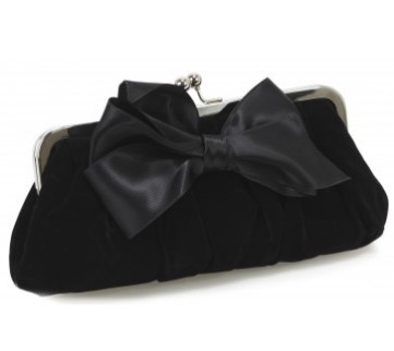 Satin bow evening bag - Bizou