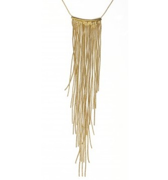 Gold fringe necklace - Bizou