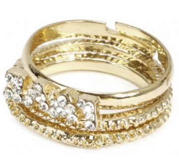 Gold love ring - Bizou
