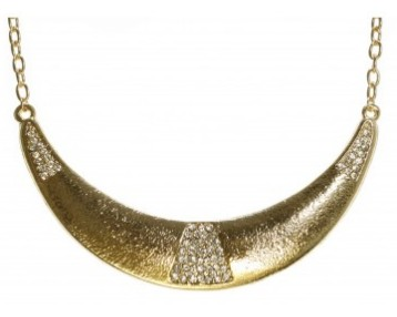 Gold necklace with stone - Bizou
