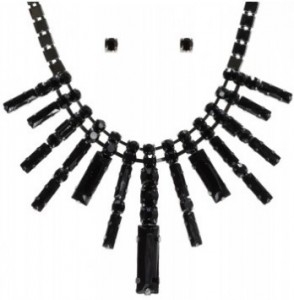 Black cascading necklace - Bizou
