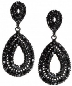 Chic black earrings - Bizou