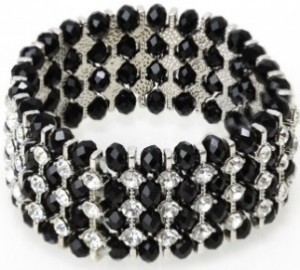 Stone-encrusted stretch bracelet - Bizou